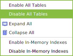 Disable unused tables